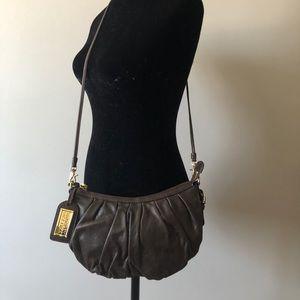 Badgley Mischka Melanie Brown Leather Crossbody